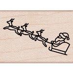 Hero Arts - Destination Collection - Christmas - Woodblock - Wood Mounted Stamps - Santa's Sleigh