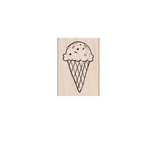 Hero Arts - Woodblock - Wood Mounted Stamps - One Scoop