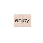 Hero Arts - Woodblock - Wood Mounted Stamps - Enjoy Message