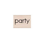 Hero Arts - Woodblock - Wood Mounted Stamps - Party Message