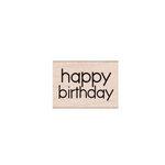 Hero Arts - Woodblock - Wood Mounted Stamps - Happy Birthday Message