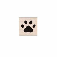 Hero Arts - Friendly Critters Collection - Woodblock - Wood Mounted Stamps - Paw Print