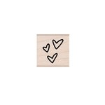 Hero Arts - Woodblock - Wood Mounted Stamps - Three Tiny Hearts