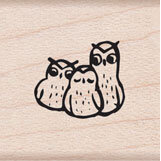 Hero Arts - Wood Mounted Stamps - Three Wise Owls