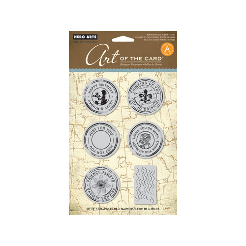 Hero Arts - Art of the Card - Repositionable Rubber Stamps - Untitled Postmark