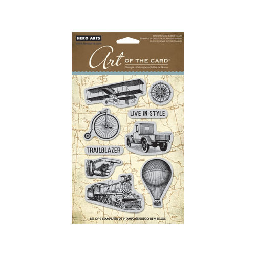 Hero Arts - Art of the Card - Repositionable Rubber Stamps - Past Times