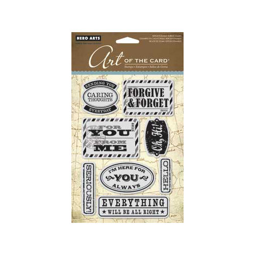 Hero Arts - Art of the Card - Repositionable Rubber Stamps - Seriously