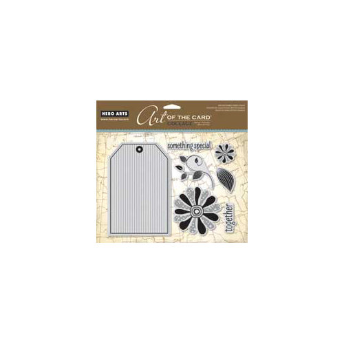 Hero Arts - Art of the Card - Repositionable Rubber Stamps - Tag Collage
