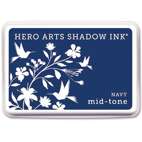 Hero Arts - Dye Ink Pad - Shadow Ink - Mid-Tone - Navy