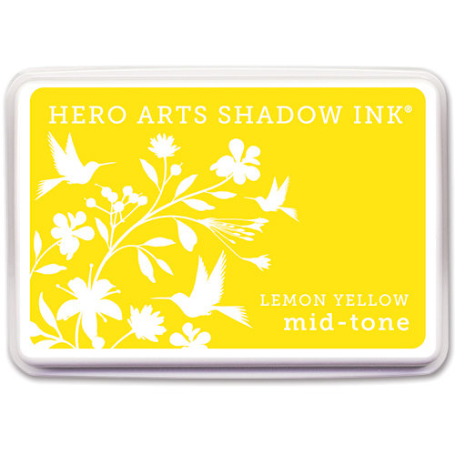 Hero Arts - Dye Ink Pad - Shadow Ink - Mid Tone - Lemon Yellow
