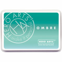 Hero Arts - Ombre Ink Pad - Mint Julep to Emerald Green