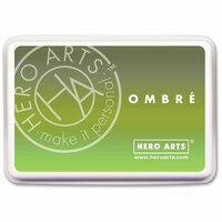 Hero Arts - Ombre Ink Pad - Lime to Forever Green