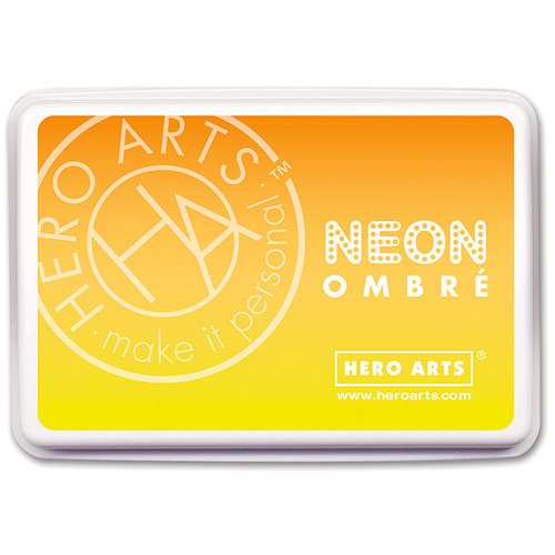 Hero Arts - Ombre Ink Pad - Neon Yellow to Orange