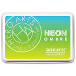 Hero Arts - Ombre Ink Pad - Neon Chartreuse to Blue