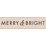 Hero Arts - Woodblock - Christmas - Wood Mounted Stamps - Merry and Bright