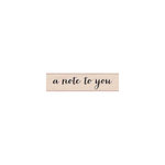 Hero Arts - Woodblock - Wood Mounted Stamps - Note to You Script