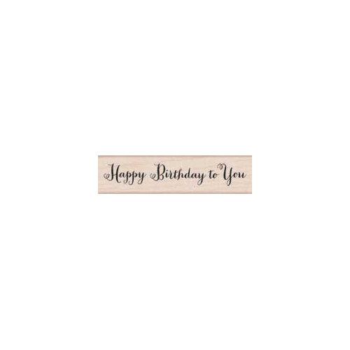 Hero Arts - Woodblock - Wood Mounted Stamps - Happy Birthday Script