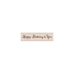 Hero Arts - Woodblock - Wood Mounted Stamps - Happy Birthday Script