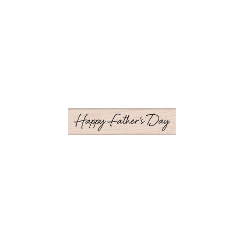 Hero Arts - Woodblock - Wood Mounted Stamps - Scripted Father's Day