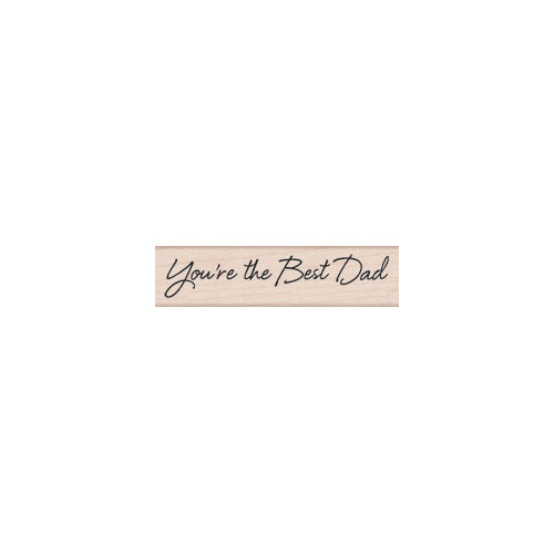 Hero Arts - Woodblock - Wood Mounted Stamps - Best Dad