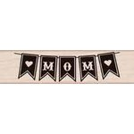 Hero Arts - Wood Block - Wood Mounted Stamp - Mom Banner