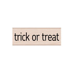 Hero Arts - Woodblock - Halloween - Wood Mounted Stamps - Trick or Treat Message