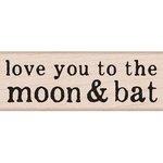 Hero Arts - Woodblock - Halloween - Wood Mounted Stamps - Moon and Bat