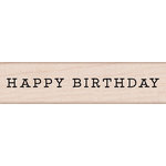 Hero Arts - Birthday Collection - Woodblock - Wood Mounted Stamps - Happy Birthday