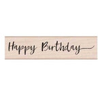 Hero Arts - Woodblock - Wood Mounted Stamps - Handwritten Happy Birthday