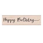 Hero Arts - Woodblock - Wood Mounted Stamps - Handwritten Happy Birthday