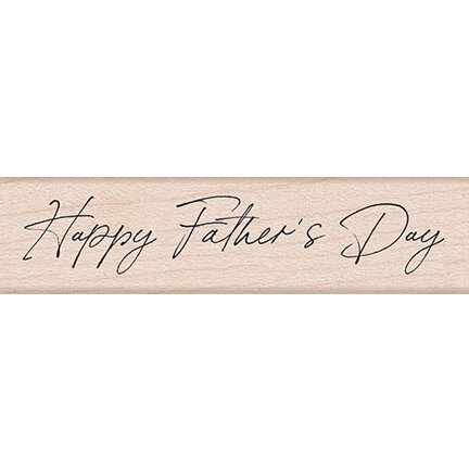 Hero Arts - Woodblock - Wood Mounted Stamps - Handwritten Father's Day