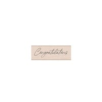 Hero Arts - Wood Mounted Rubber Stamps - Cursive Congratulations