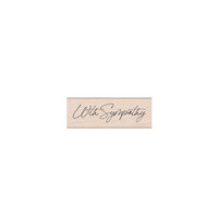 Hero Arts - Wood Mounted Rubber Stamps - Cursive With Sympathy