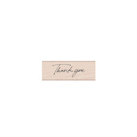 Hero Arts - Wood Mounted Rubber Stamps - Cursive Thank You