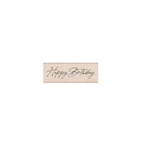 Hero Arts - Wood Mounted Rubber Stamps - Cursive Happy Birthday