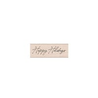 Hero Arts - Christmas - Wood Mounted Stamps - Handwritten Happy Holidays