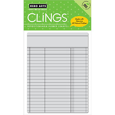 Hero Arts - Clings - Repositionable Rubber Stamps - Ledger