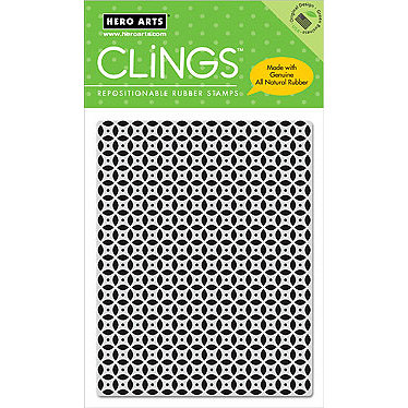 Hero Arts - Clings - Repositionable Rubber Stamps - Circle Pattern