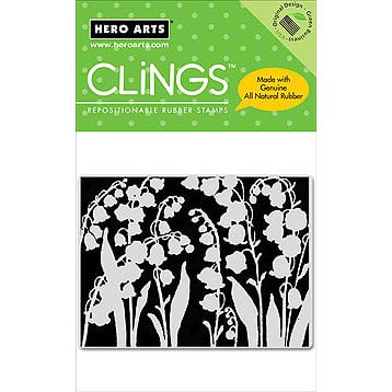 Hero Arts - Clings - Repositionable Rubber Stamps - Silhouette Bells