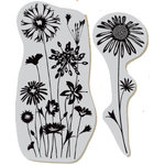 Hero Arts - Clings - Repositionable Rubber Stamps - Wildflower Garden