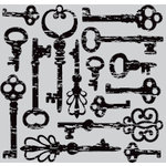 Hero Arts - Clings - Repositionable Rubber Stamps - Antique Keys