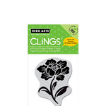Hero Arts - Clings - Repositionable Rubber Stamps - Little Stencil Flower
