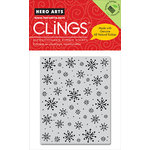 Hero Arts - Clings - Christmas - Repositionable Rubber Stamps - Falling Snowflakes