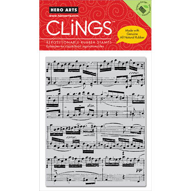 Hero Arts - Clings - Christmas - Repositionable Rubber Stamps - Music Background