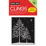 Hero Arts - Clings - Christmas - Repositionable Rubber Stamps - Starry Night