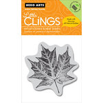 Hero Arts - Clings - Christmas - Repositionable Rubber Stamps - Maple Leaf