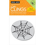Hero Arts - Clings - Halloween - Repositionable Rubber Stamps - Spider Web