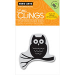 Hero Arts - Clings - Halloween - Repositionable Rubber Stamps - Midnight Owl