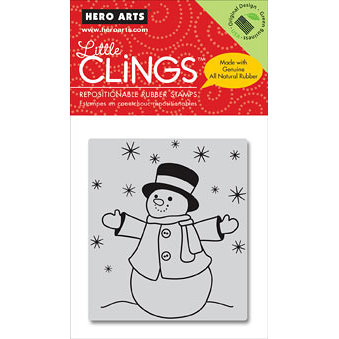 Hero Arts - Clings - Christmas - Repositionable Rubber Stamps - Let It Snow