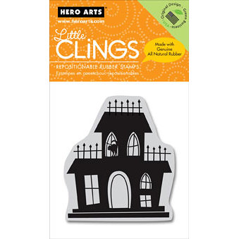 Hero Arts - Clings - Halloween - Repositionable Rubber Stamps - Scary House